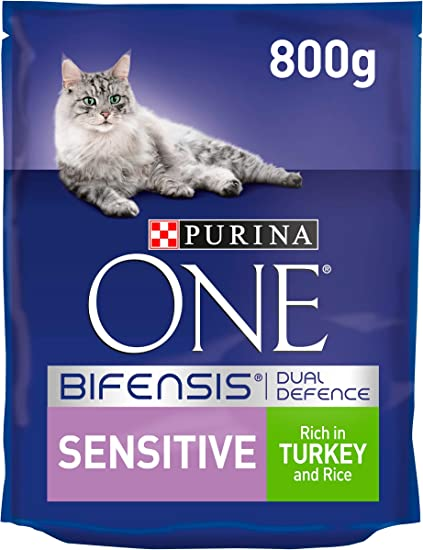 Image ofPurina One Sensitive Turkey and Rice 800 g, Pack of 4