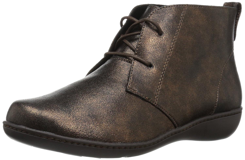 Soft Style Women's Jinger Ankle Bootie B01N371FV3 5.5 B(M) US|Bronze/Metallic