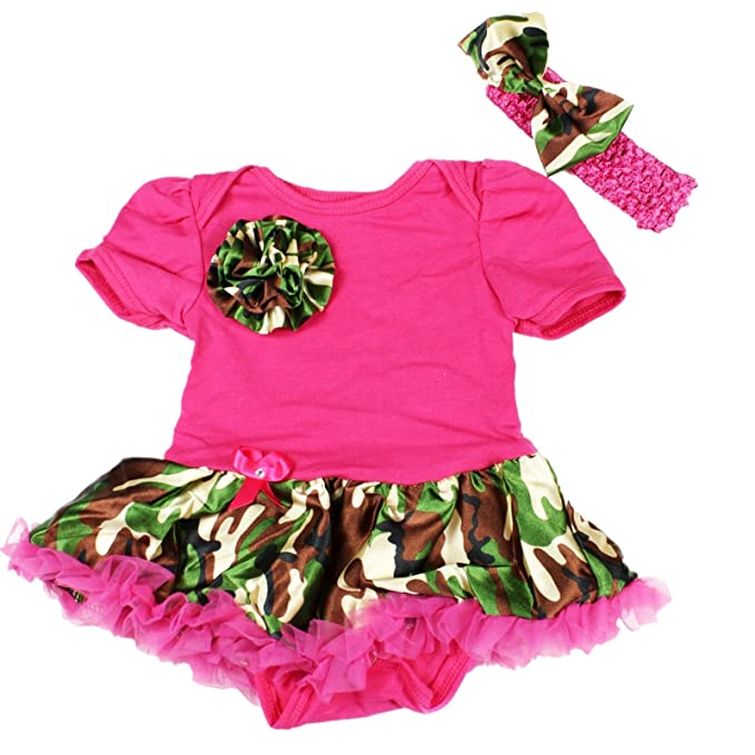 Amazon.com: Camuflaje, Color Rosa Bodysuit Jumpsuit Romper ...