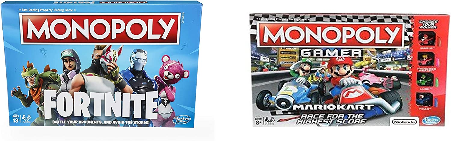 Fortnite Monopoly y Mario Kart Gamer Monopoly Bundle: Amazon.es: Juguetes y juegos