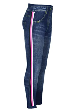 32d0c71390592 Amazon.com: Crush Girls Seamless Denim Scratches Legging with Side Tape:  Clothing