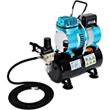Master Airbrush 1/5 HP Cool Runner II Dual Fan Tank Air Compressor Kit Model TC-326T - Professional Single-Piston with 2…