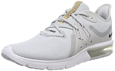 pick up 69eb9 f448a Nike Mens Air Max Sequent 3 Gymnastics Shoes, Gold (Pure PlatinumBlack