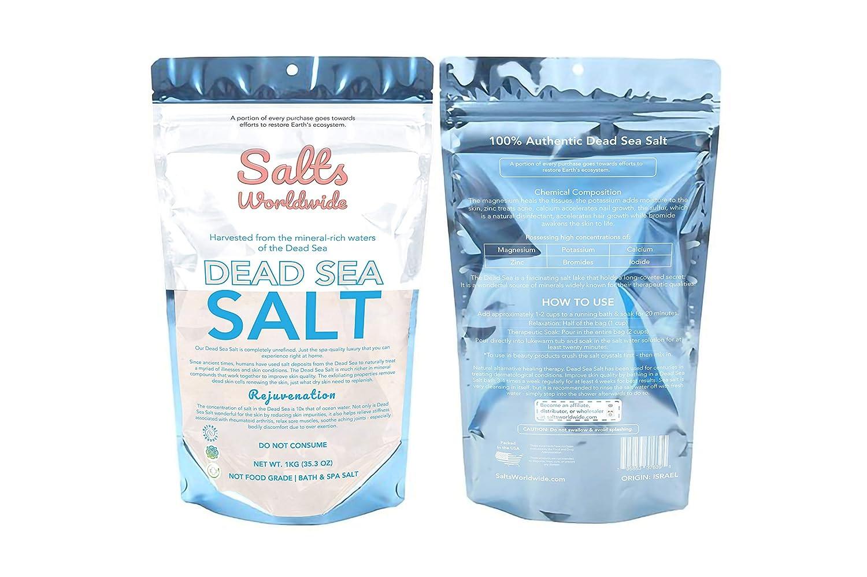 Authentic Premium Dead Sea Salt Imported from Israel - 1KG - Israel Dead Sea Salt The Best Bath Salt