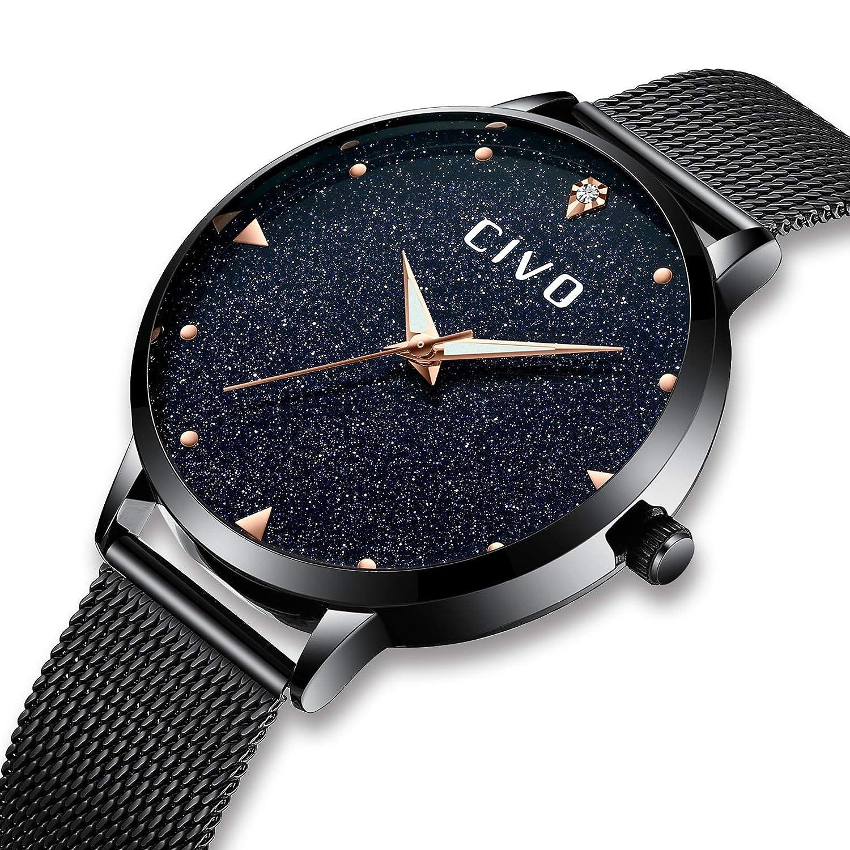 Amazon.com: CIVO Women Watches Ladies Stainless Steel Watch Waterproof Luxury Fashion Elegant Watches for Woman Girls Business Dress Analogue Quartz Wrist ...