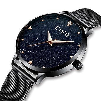 CIVO Women Watches Ladies Stainless Steel Watch Waterproof Luxury Fashion Elegant Watches for Woman Girls Business