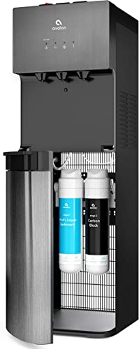 Avalon A5BLK Self Cleaning Bottleless Water Cooler Dispenser, UL Energy star, NSF certified Filters, Black Stainless Steel, full size