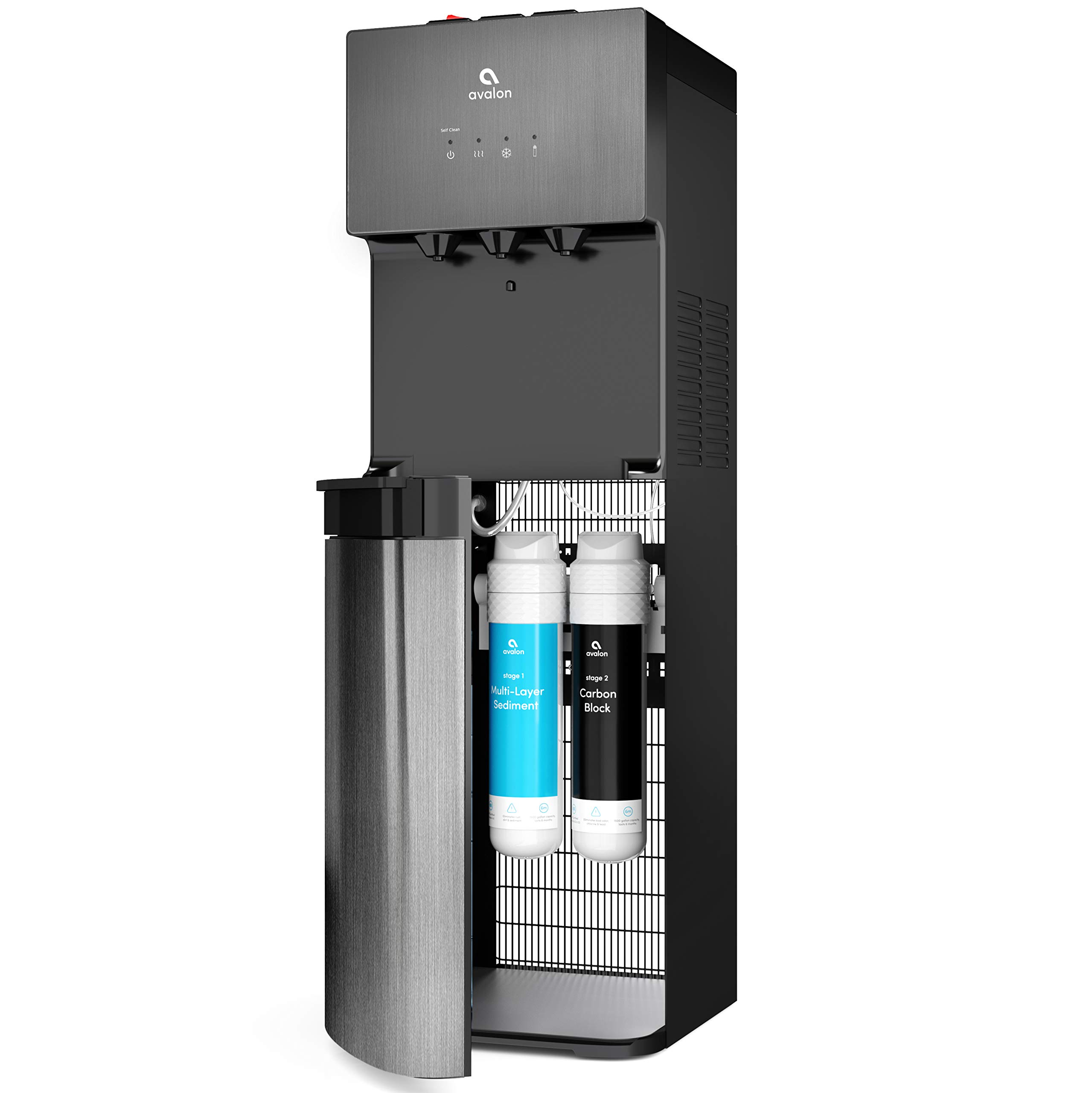 Avalon A5BLK Self Cleaning Bottleless Water Cooler Dispenser, UL/NSF/Energy Star, Black Stainless Steel by Avalon