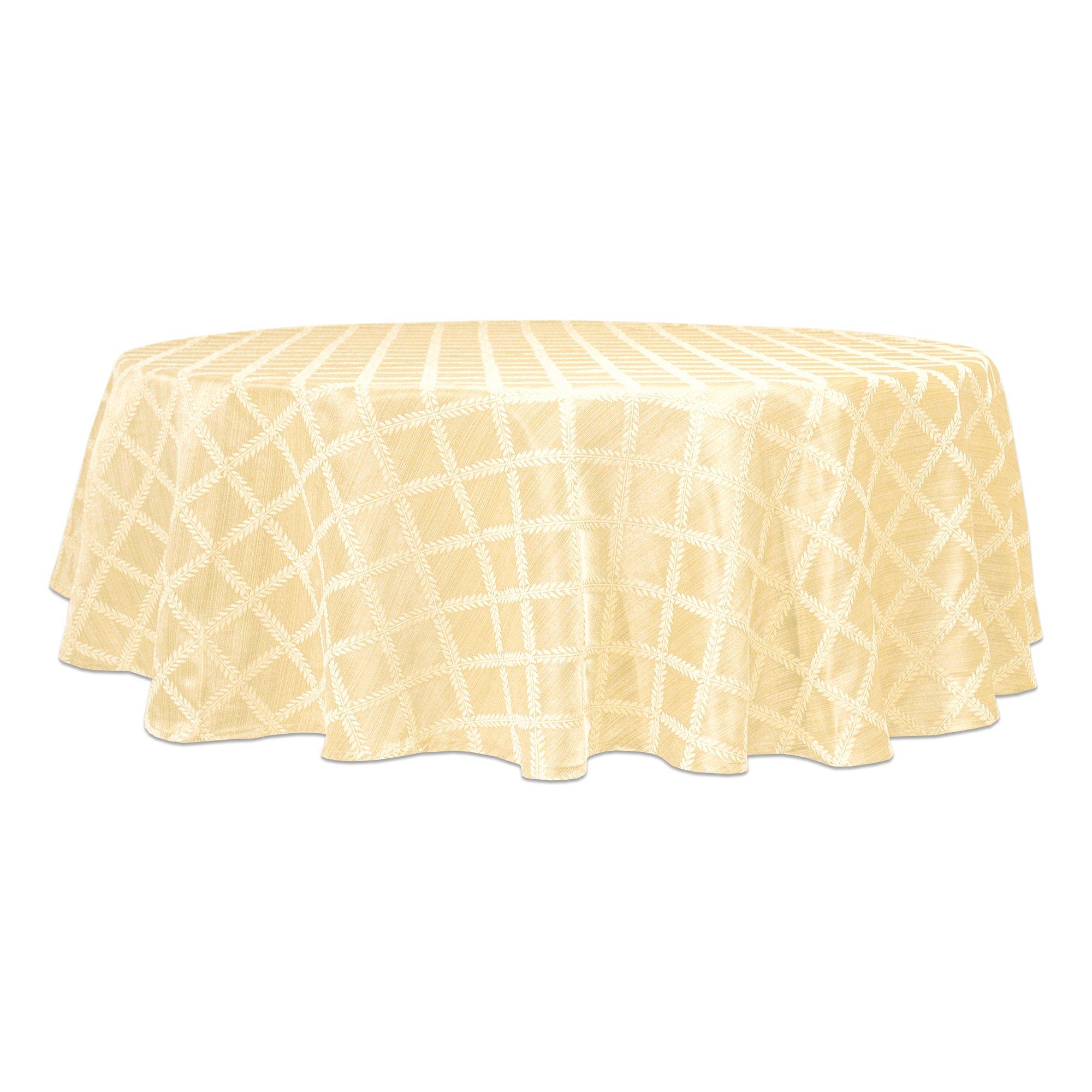 Lenox Laurel Leaf 70'' Round Tablecloth, Ivory
