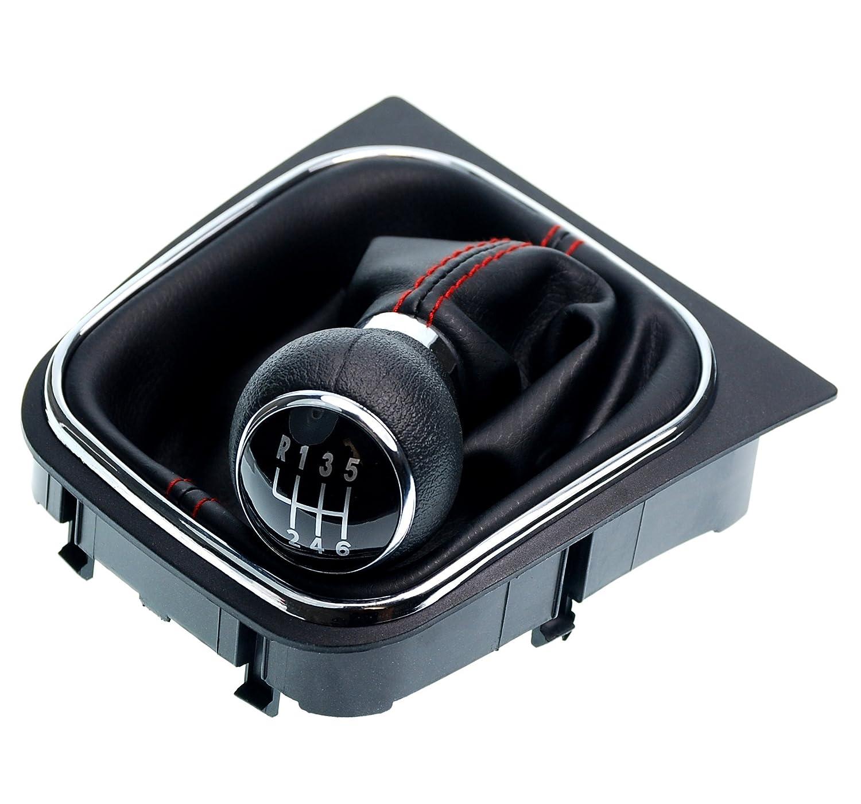 L/&P A0001 Soufflet Sac Manchette manchon de commutation 100/% cuir v/éritable veritable noir noire couture fil noir transmission manuelle bo/îte boite vitesse vitesses changement vitesse