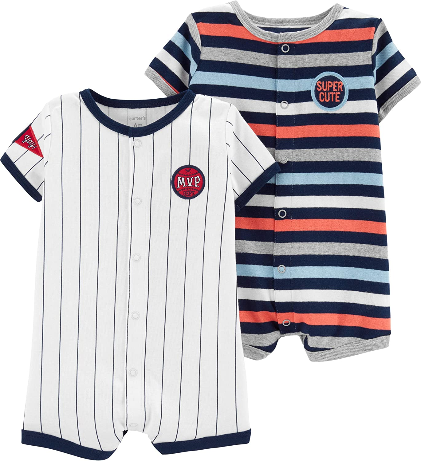 Carters Baby-Boys 2-Pack Snap Up Romper Jumpsuit