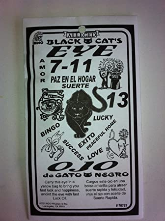 Amazon.com : Black Cats Eye 7-11 (Ojo De Gato Negro) : Asafetida ...