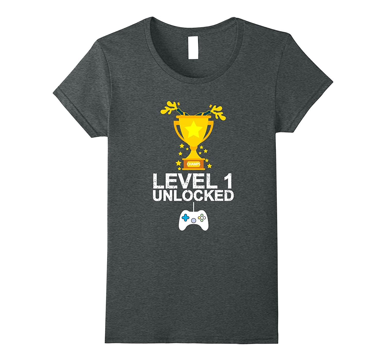 Funny 1st Birthday Level 1 Unlocked T-shirt Gamer Gift Kid