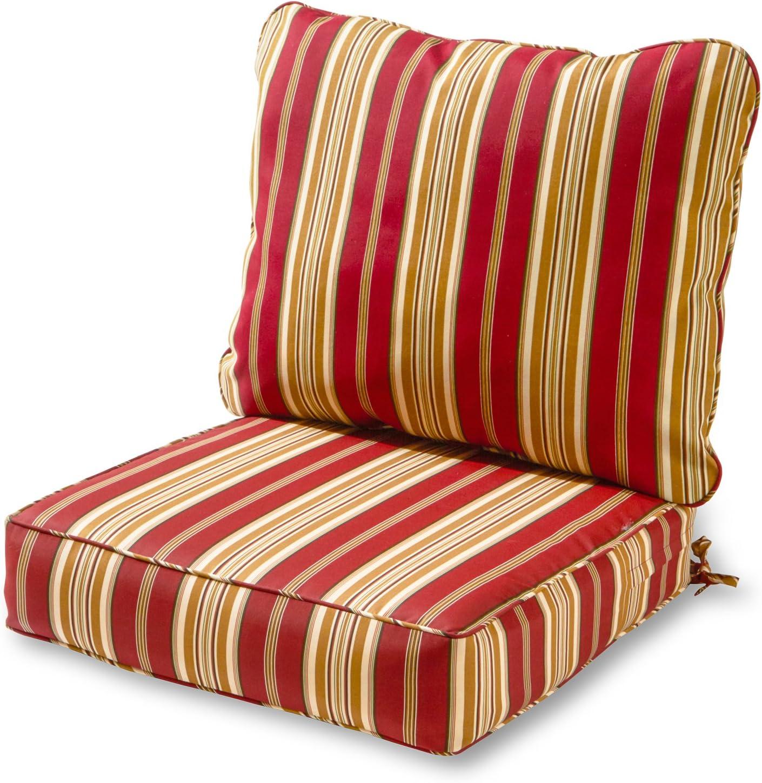 Greendale Home Fashions AZ7820-ROMASTRIPE Tuscan Stripe Outdoor 2-Piece Deep Seat Cushion Set