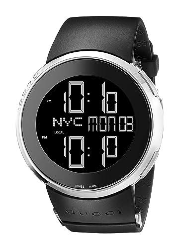 Gucci Reloj Digital para Unisex de Cuarzo con Correa en Caucho YA114202: Amazon.es: Relojes
