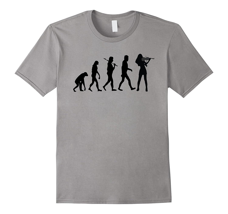 Violinist Evolution Funny Violin Music T-Shirt-CL