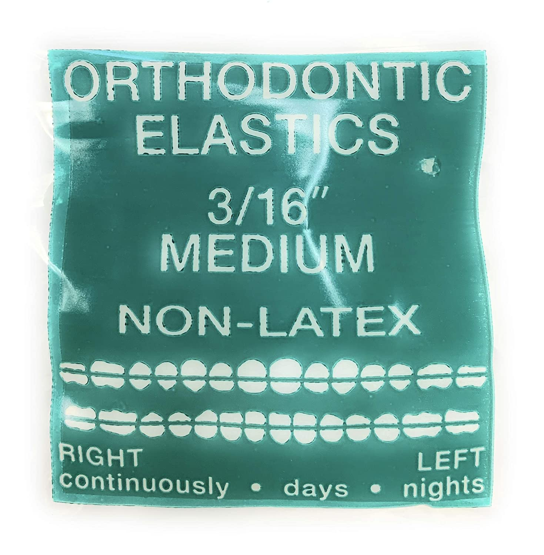 Amazon Com 100 Pack Orthodontic Elastic Bands 3 16 Inch Diameter