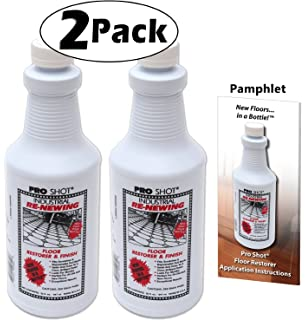 2 Pack Pro Shot Industrial Re Newing Floor Restorer And Finish 64 Oz