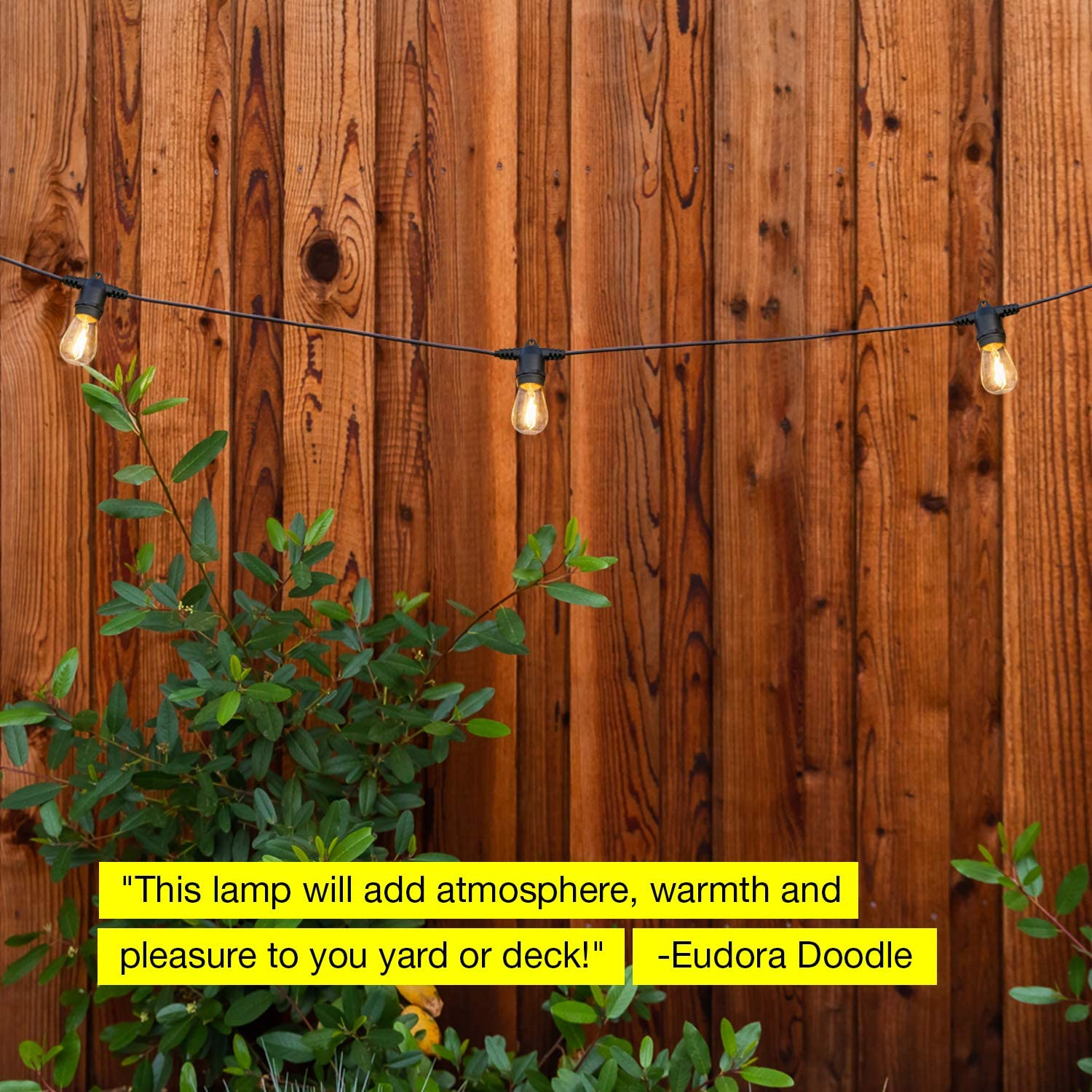 48 Ft Commercial Grade Patio Lights 2W Vintage Edison Bulbs Create Bistro Ambience in Your Backyard Brightech Ambience Pro Waterproof LED Outdoor String Lights