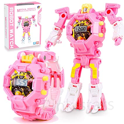 Amazon Com Transformers Toys For Kids Girls Boys Digital Watch Pink