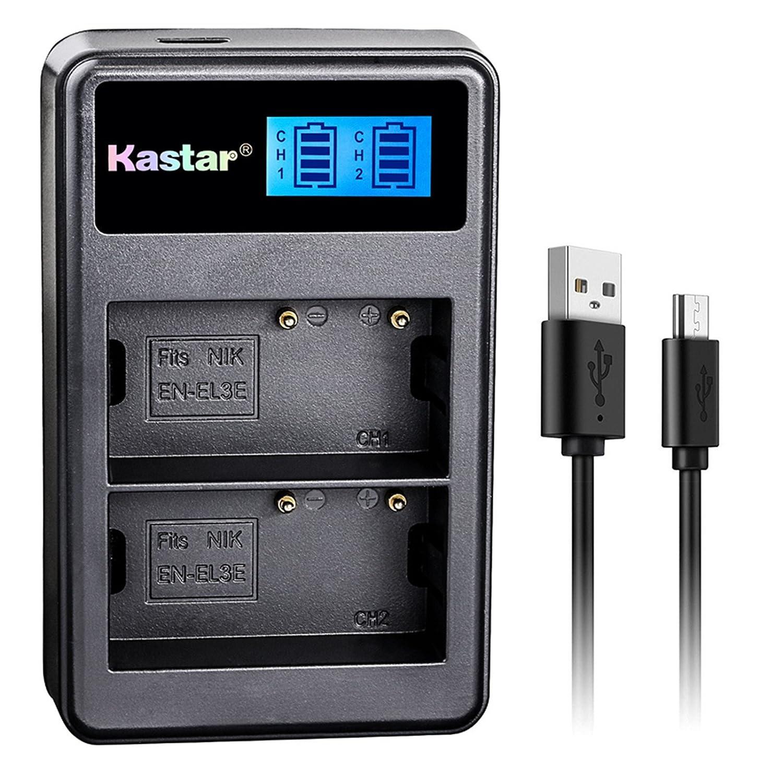 Amazon.com: Kastar, Batería, Cargador USB para EN-EL3e-2 EN ...