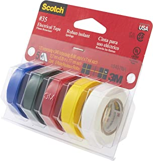 product image for 3M Scotch #35 Electrical Tape, Multi-Color Value Pack (10457NA), 5 Rolls