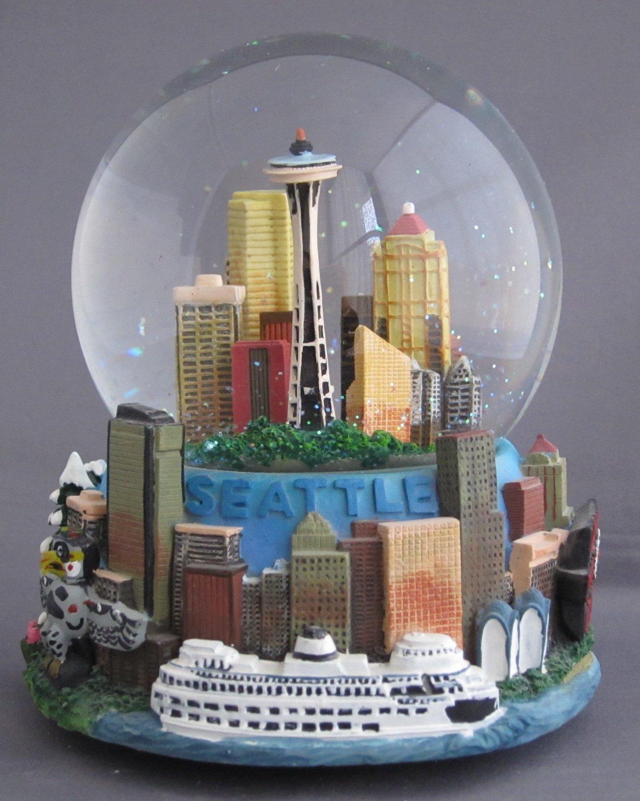 Seattle Musical 100mm Snow Globe