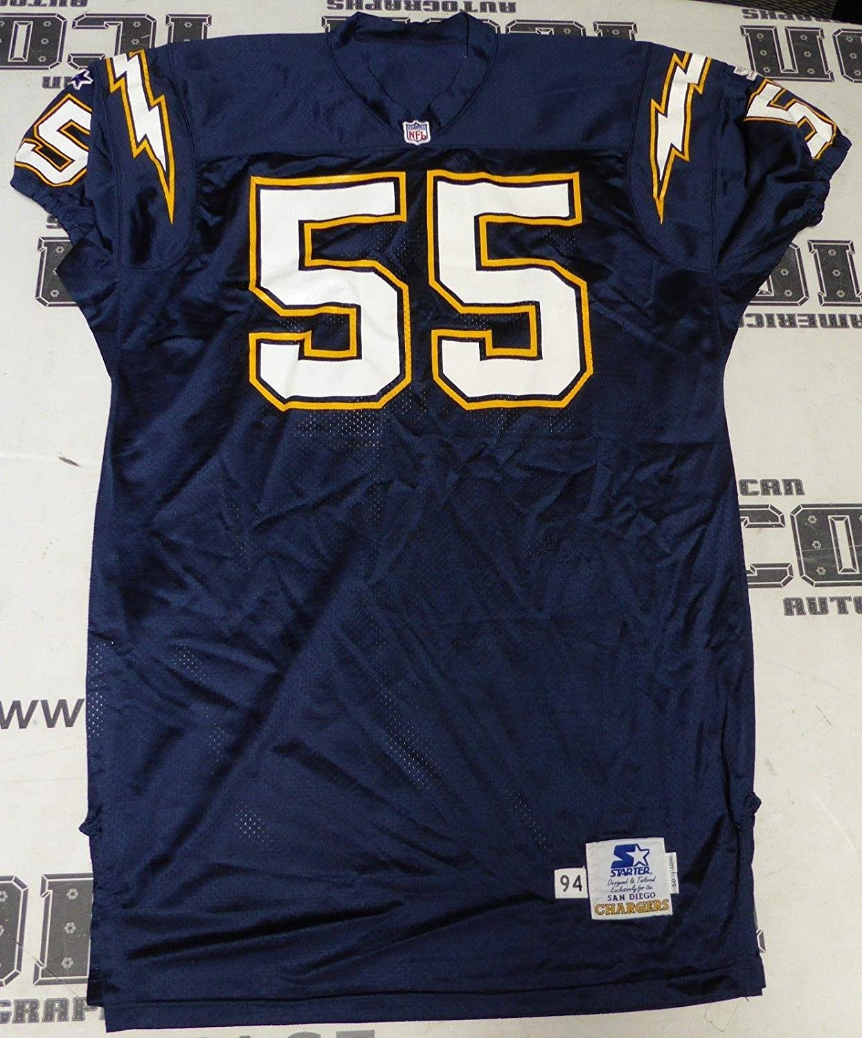 ... Nike Junior Seau Elite Jersey at Chargers Shop Amazon.com Junior JR Seau  Game Issued On Field 1994 Chargers Football Starter Jersey 55 Mens NFL ... a40b0839f