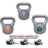 UK Fitness Kettlebell set 6-8 -10kg Set of 3 Kettlebells