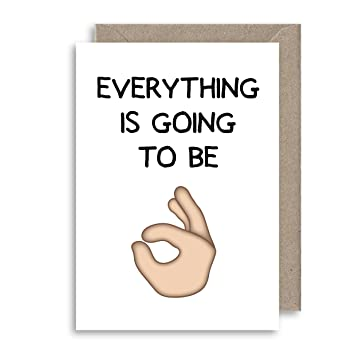 TODO va a estar bien Tarjeta de emoticonos – Instagram Facebook tarjeta de felicitación – reasurance