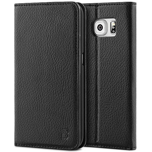 8 opinioni per Cover Samsung Galaxy S6 Edge, BEZ® Premium di cuoio del raccoglitore per Samsung
