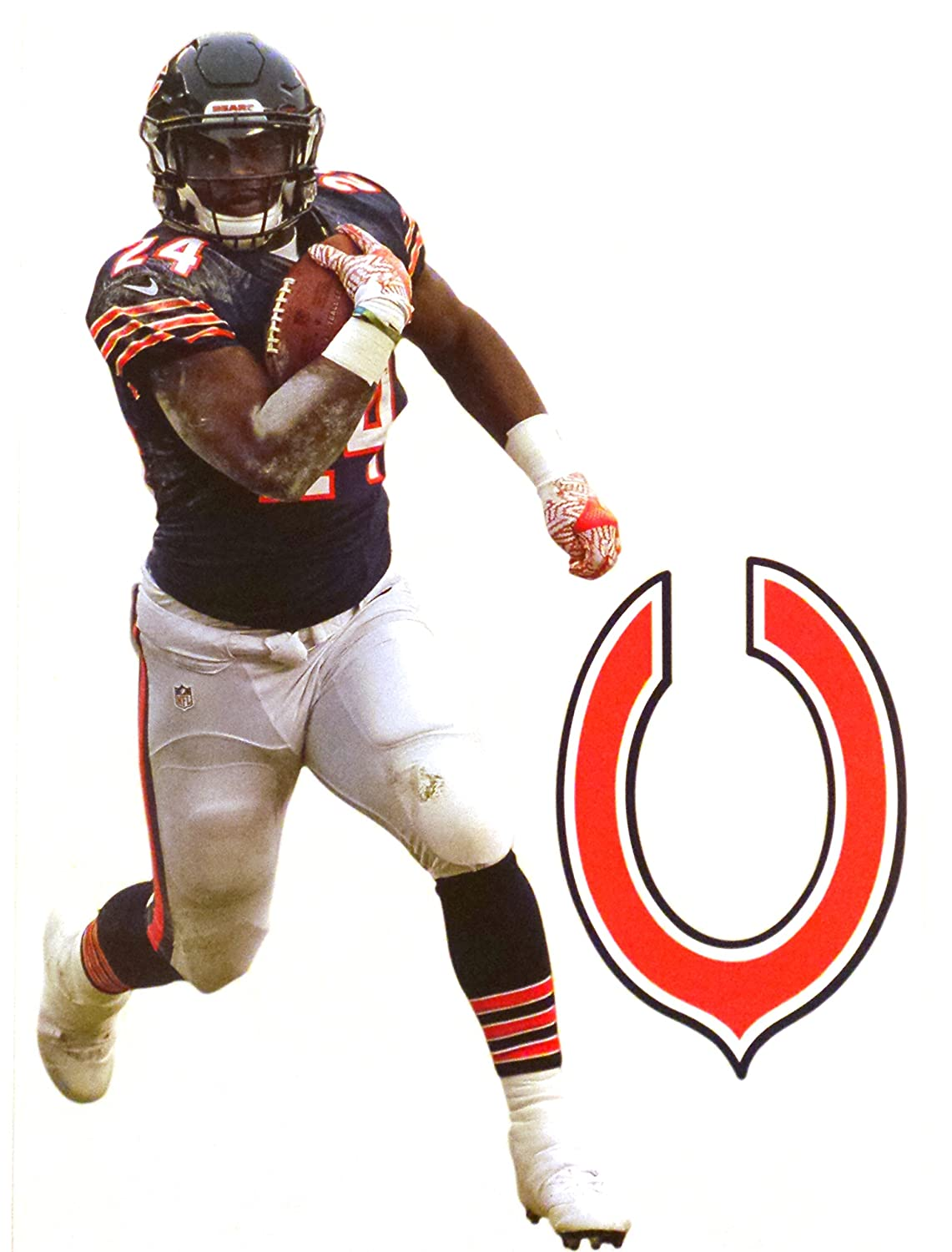 81aa6a0b Amazon.com: Jordan Howard Mini FATHEAD + Chicago Bears Logo Official ...
