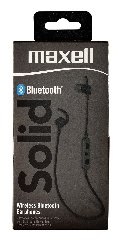 Maxell Auriculares Bluetooth 4.1 In-Ear, Sonido Estéreo Cascos Deportivos Inalámbricos con Micrófono, Máxima duración 7 Horas para iPad, iOS, iPhone, ...