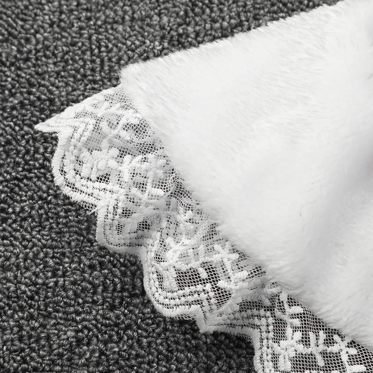 iiniim Flower Girls Wrap Shawl Faux Fur Princess Cape Wedding Bridesmaid Tippet Stole Christmas Party Dress