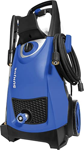 Sun Joe SPX3000-SJB Pressure Joe 2030 PSI 1.76 GPM 14.5-Amp Electric Pressure Washer, Dark Blue Renewed