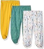 Spasilk - Pack de 3 Pantalones de algodón con pies para bebé