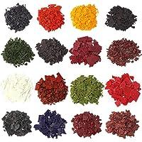 16 couleurs de teinture de cire de bougie de 4,3g chacune pour conception personnelle de bougies