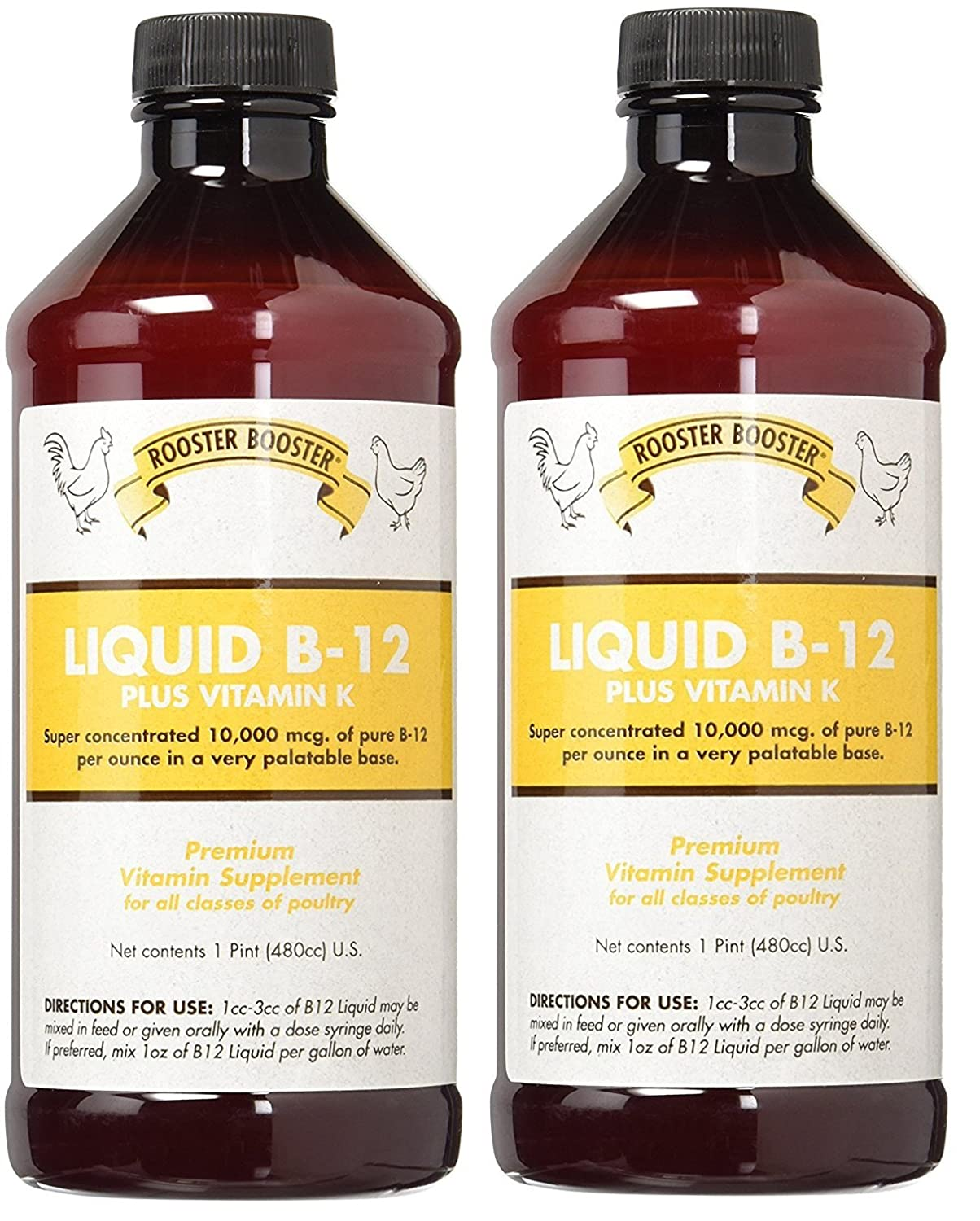 2 Pack Rooster Booster B-12 Liquid, 16-Ounce