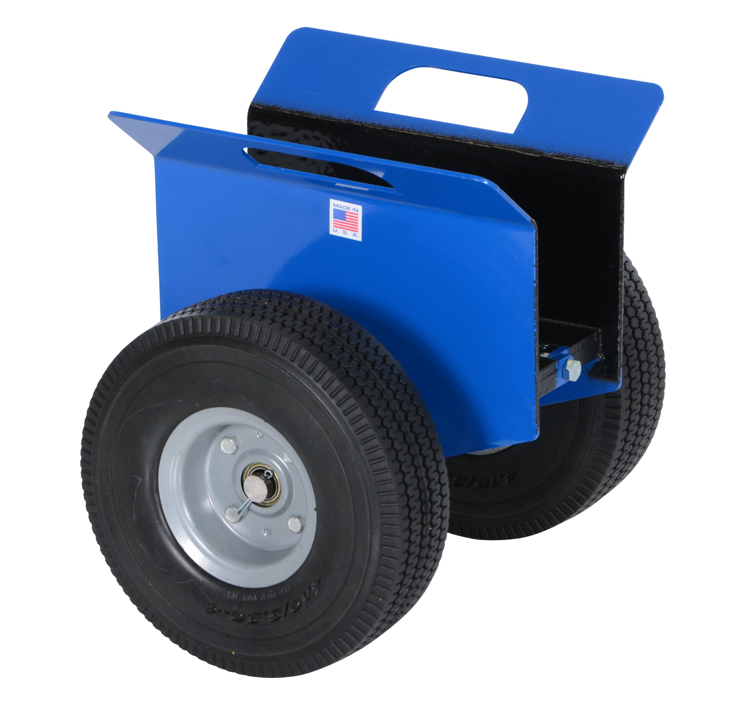 Vestil PLDL-HD-4 Steel Plate and Slab Dolly with Foam Wheels, 500 lbs Load Capacity, 14-1/4'' Height, 12'' Length x 13-5/8'' Width