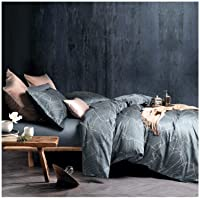 Eikei Modern Vintage Retro Mod Print Bedding Egyptian Cotton Duvet Cover Set Minimalist...