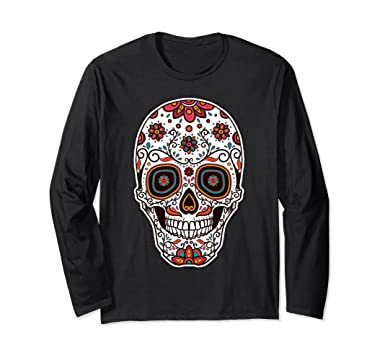 67bb1cd70 Amazon.com: Day of the Dead Sugar Skull Candy T shirt: Clothing