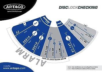 Artago Secure 22S.6M Motorcycle / Scooters / Bike Alarm Disc Lock - Anti Thief alarm 120 dB