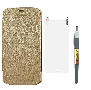 brand new 3b8be f56e7 RedMango Flip Cover Case for Micromax Canvas Gold A300: Amazon.in ...