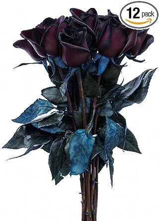Flower Explosion Ramo De Rosas Negras 12 Tallos Negros Grocery Gourmet Food