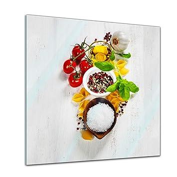 Glasbilder Küche 20X20 | Glasbild Italienische Pasta Iii 20x20 Cm Deko Glas Wandbild