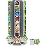 Flagship Pod stands for Keurig K-cup Coffee pod Holder Carousel Capsule Holder Organizer for Keirug K Cup (silver, 48…