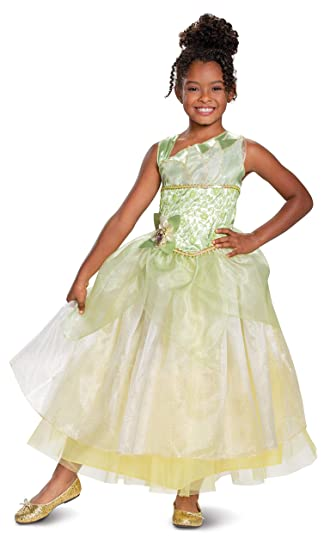Disney Princess Tiana Deluxe Girls Costume, Green