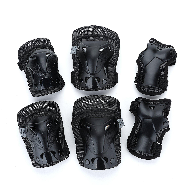 YAHILL Multi-Use Sicherheits Schutzausrüstung für Kinder Teenager Adult, oder Kinder Kinder Erwachsene Knie Ellenbogen-Handgelenk-Pads, für Radfahren Roller Skating und Andere Extremsportarten