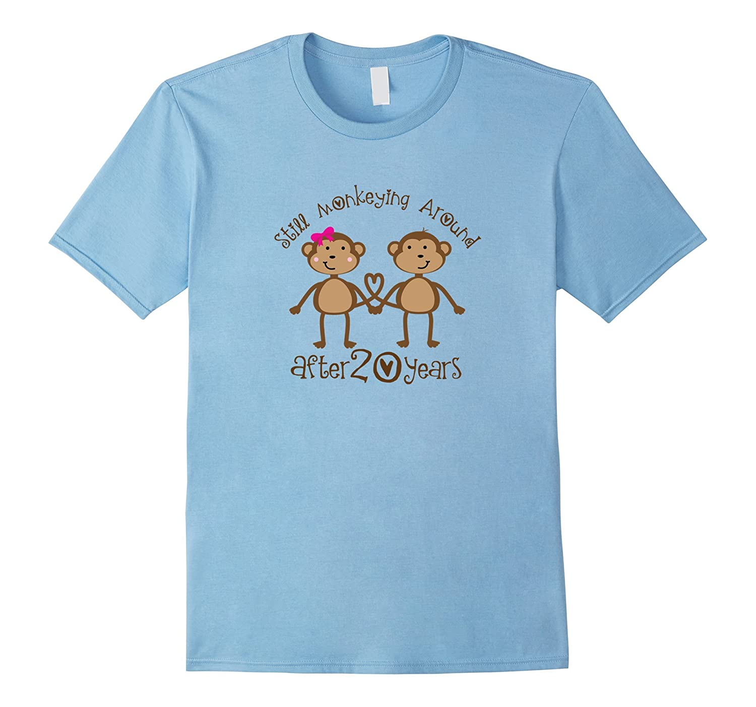 20th Wedding Anniversary Gifts Shirts Funny Monkeys-CD
