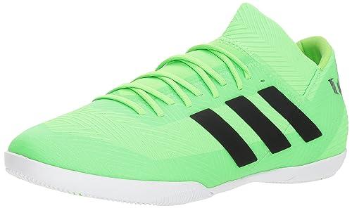 sports shoes 473b4 59883 adidas Mens Nemeziz Messi Tango 18.3 Indoor Soccer Shoe, Solar GreenBlack Solar